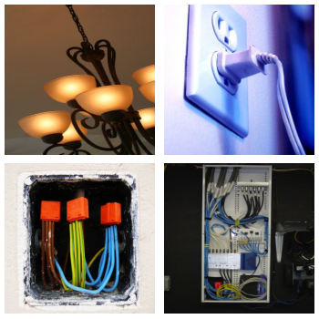 Collage of electrical items